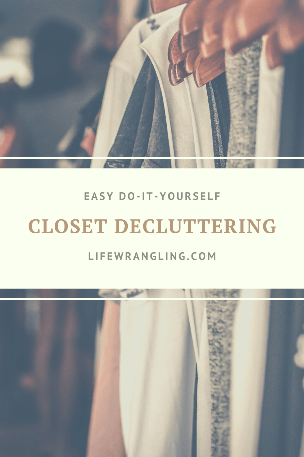 Declutter the closet as the first step in decluttering your home #decluttering #minimalism #project333 #clutter #organize #whattothrowaway