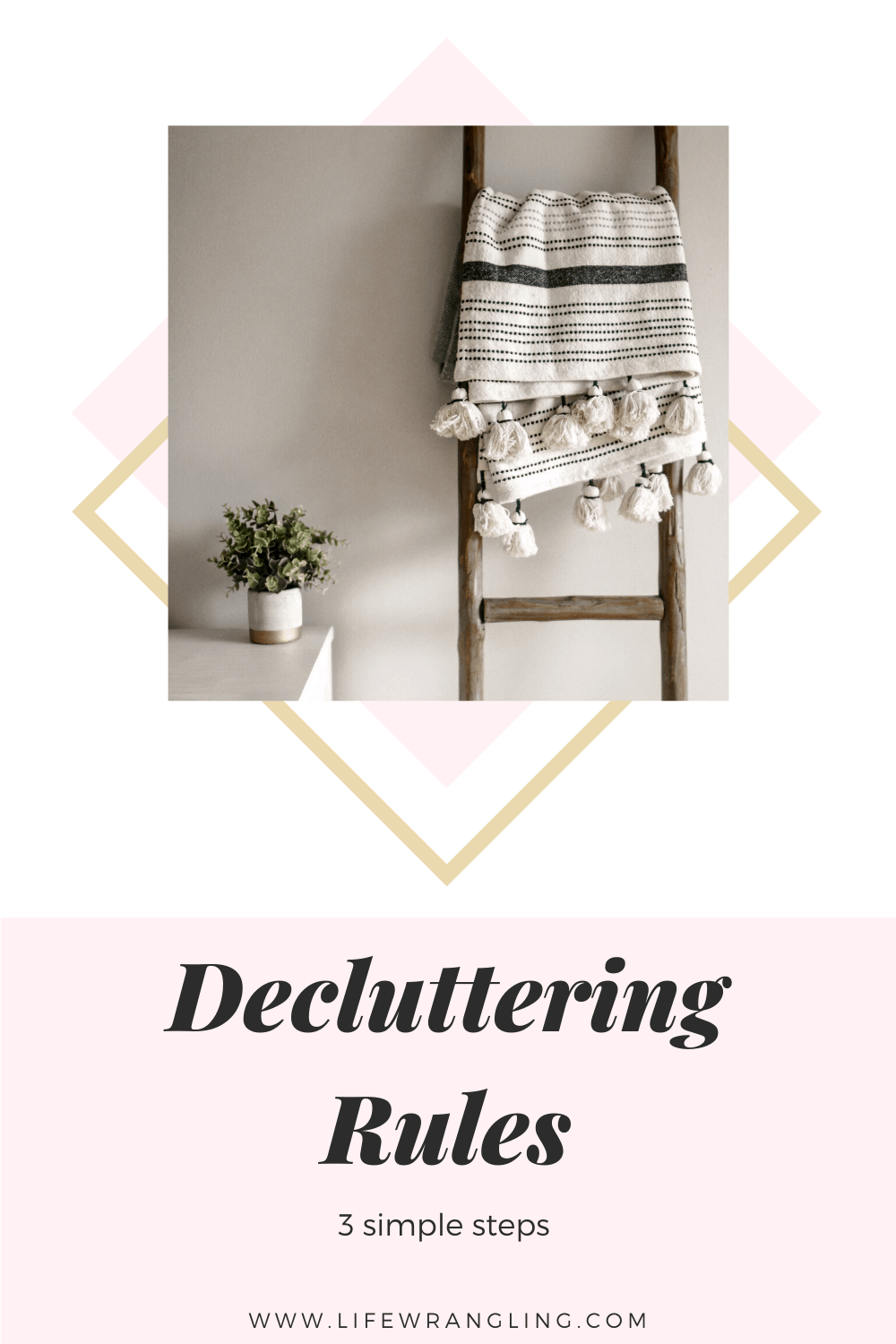 This simple three step system will make it as easy as possible to complete one decluttering task each day until things are back under control. #declutteringrules